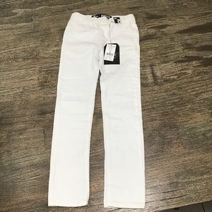 Cotton on kids girls white ripped jeggings.